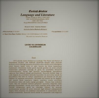 Makale Çevirisi